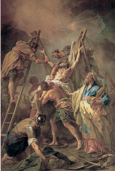 La Crucifixion de saint André, peint par Jean II RESTOUT (1692-1768), Grenoble.