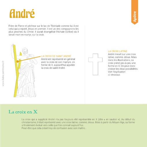 """Les symboles de Saint André : la croix en X (ou en """"sautoir"""")."""
