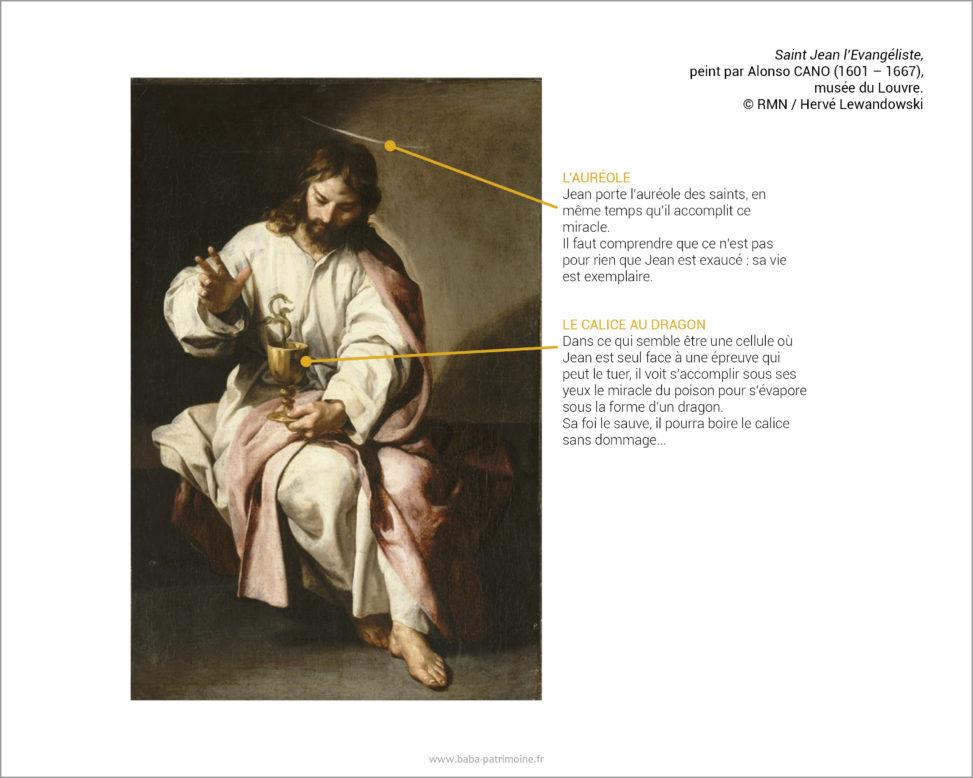Saint Jean l'Evangéliste, peint par Alonso CANO (1601 – 1667), musée du Louvre. © RMN / Hervé Lewandowski