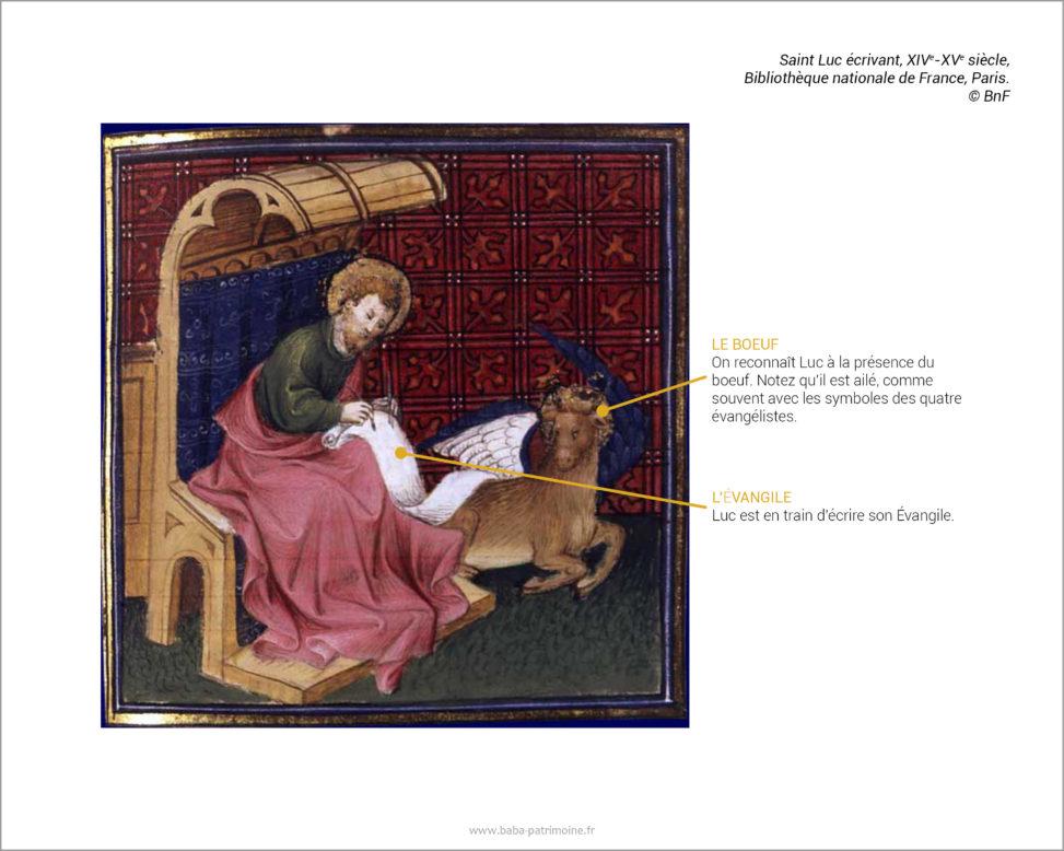 Saint Luc écrivant, XIVe-XVe siècle, BnF Paris. © Bibliothèque nationale de France