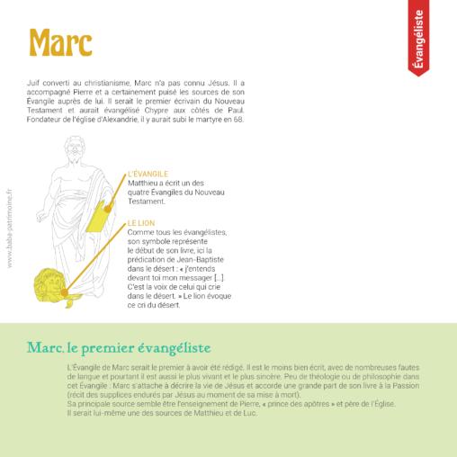 Saint-Marc l'évangéliste : sa vie et son symbole, le lion.