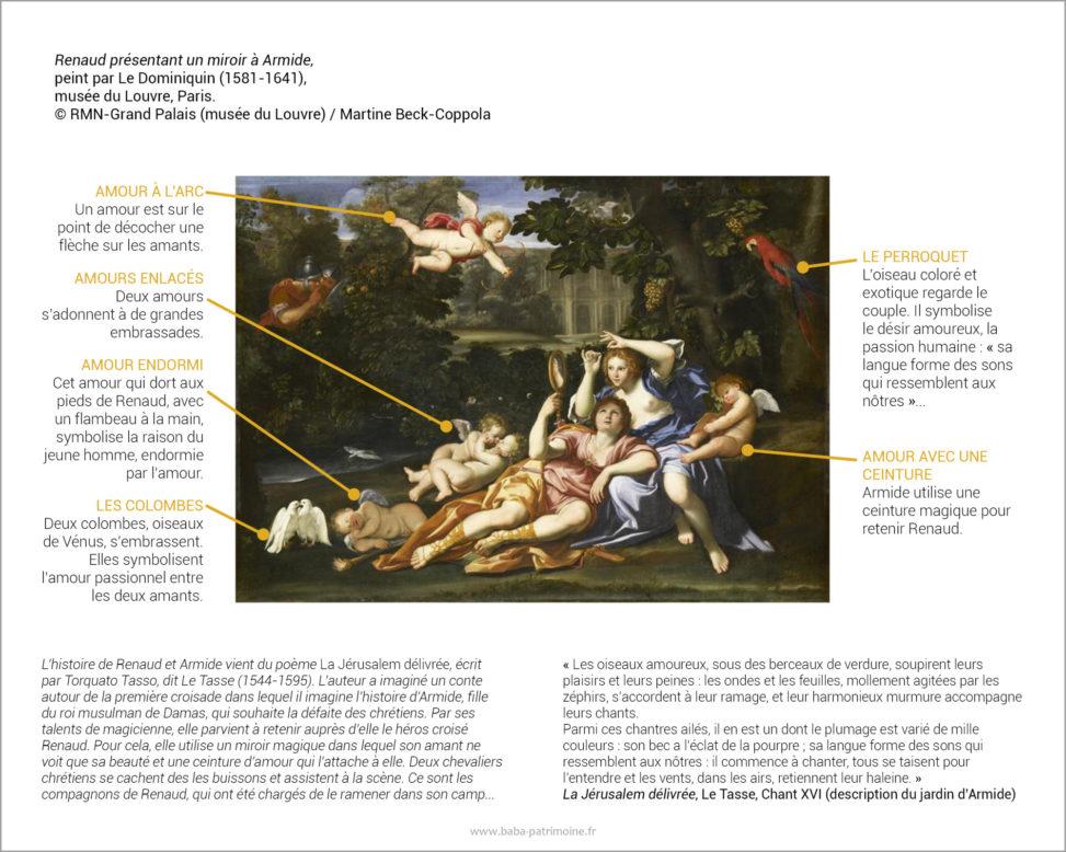 Renaud présentant un miroir à Armide, peint par Le Dominiquin (1581-1641), musée du Louvre, Paris. © RMN-Grand Palais (musée du Louvre) / Martine Beck-Coppola