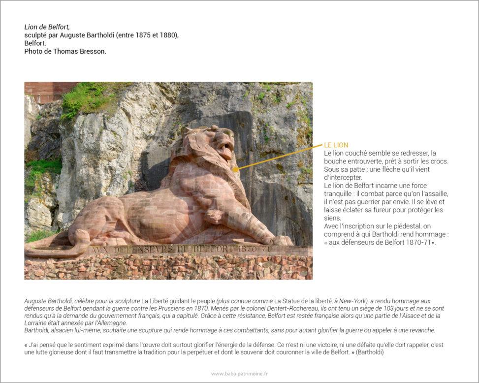 Le Lion de Belfort sculpté par Auguste Bartholdi en l'honneur des défenseurs de Belfort.