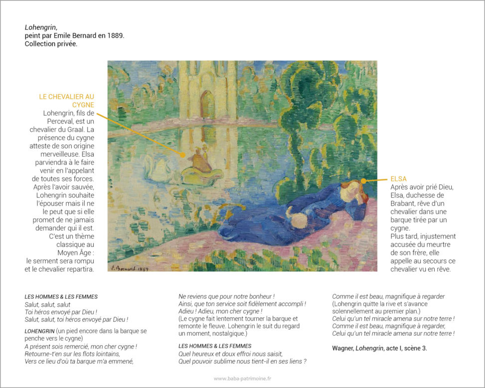 Lohengrin, peint par Emile Bernard.