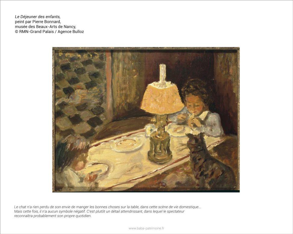 Analyse de tableau : Le Déjeuner des enfants, peint par Pierre Bonnard. Musée des Beaux-Arts de Nancy.