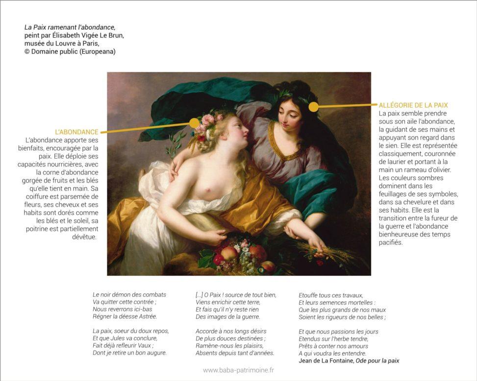 La Paix ramenant l'abondance, peint par Elisabeth Vigée Le Brun. Musée du Louvre.
